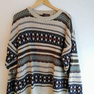 Oversized Vintage Chunky Knit Boho Sweater